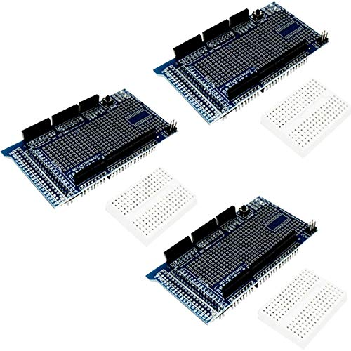 AZDelivery 3 pcs Prototyping Prototype Shield ProtoShield Prototipo con Mini Breadboard compatible con MEGA 2560 R3 con E-Book incluido!