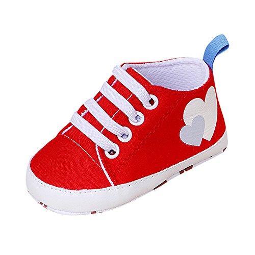 MOMBIY einfarbige Kinder-Turnschuhe, rutschfeste Babyschuhe mit Rugby-Aufdruck für Babys, Schuhe mit weicher Sohle und Segeltuchschuhe