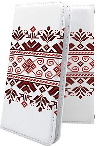 ケース ZenFone3 Deluxe ZS550KL 互換 手帳型 女の子 女子 女性 レディース ノルディック柄 冬 セーター ゼンフォン デラックス デザイン イラスト zenfone 3 zs 550 kl おしゃれ [BDN62033mrz]