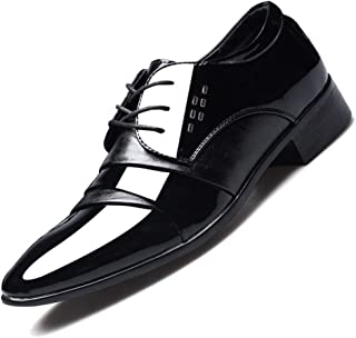 Scarpe Eleganti da Uomo Scarpe Eleganti in Pelle da Sposa Eleganti in Pelle Lucida Scarpe da Lavoro da Lavoro all'aperto S...
