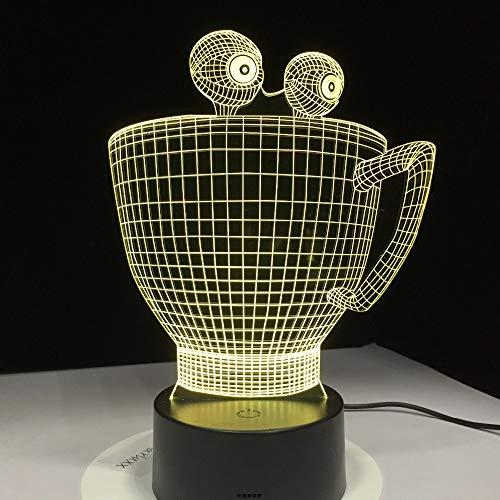 Solo 1 pieza Lámpara de dibujos animados 3D Lámpara de mesa de decoración visual con lámpara de escritorio LED cambiante como decoraciones Regalo lindo para niños