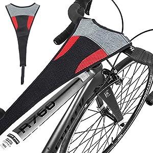 Jinhuaxin Protezione Antisudore per Bici,per Bicicletta da Allenatore Allenamento Ciclismo al Coperto,per Telaio per Allenamento Telaio Sudore Assorbe Corrosione