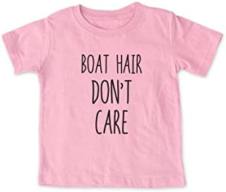 cute & funny Boat Hair Don't Care - Nautical Lake Sailing Baby, Infant, Toddler, Kids Youth Shirt