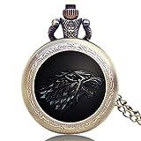 Reloj de bolsillo de cuarzo con diseño de Juego de Tronos para...