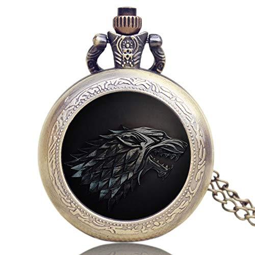 Reloj de bolsillo de cuarzo con diseño de Juego de Tronos para hombres y mujeres, unisex con colgante de bolsillo, regalo
