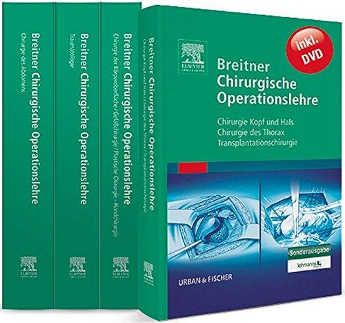 Breitner Chirurgische Operationslehre: Der Klassiker kompakt – zusammengefasst in vier Bänden – inklusive einer DVD