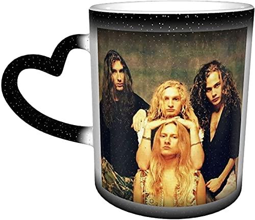 Taza de café Alicia en Cadenas con calor mágico sensible, taza que cambia de color en el cielo, taza de café, taza de té con leche y regalo personalizado para los amantes de la familia y amigos