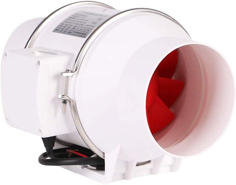 Extractor de aire QIQIDEDIAN Ventilador de Escape conducto Circular Ventilador 120 baño Aire Interior Potente 5 Pulgadas