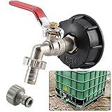 Soddyenergy Adaptador para Manguera de jardín S60X6 de Rosca Gruesa IBC, 1 Unidad, Adaptador para Tanque de Agua de 13 mm