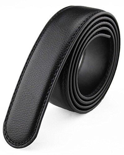 SAMGU Homme Ceinture en cuir Boucle de belt ceinture sans tête Couleur Noir