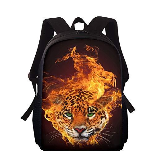 WOAIBAOBAO Mochila Animal Print Leopardo 15 Pulgadas Bolsa De Estudiante Mochila para Niños