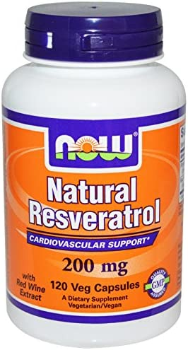 Now Foods Natural Resveratrol 200 mg Mega Potency 120 Vcaps Multi Pack product image