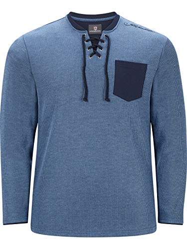 Jan Vanderstorm Herren Sweatshirt Terracne (Longsleeve, Langarmshirt) blau L - 52/54