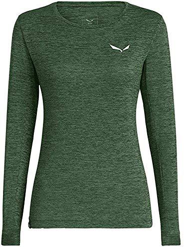 Salewa Damen Puez Dry W L/S Tee Blusen & T-Shirts, Duck Green Melange, 46/40