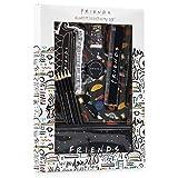 FRIENDS Set Papeleria para Niños, Incluye Cuaderno Boligrafo Lapices de Colores Estuche Goma y Regla, Material Escolar Bonito, Regalos para Niñas y Niños