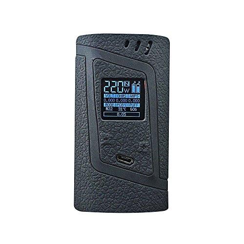 DSC-Mart Protective Case for Smok Alien 220W, Texture Silicone Skin Cover Sleeve Wrap Gel Fits SMOK Alien 220 Watt Kit Box Mod (Black)