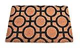 Felpudo de Coco Natural, felpudos Entrada casa, Alfombra Limpia Zapatos, Felpudo Exterior, Alfombra Entrada casa Interior, 40x60 (Círculo)