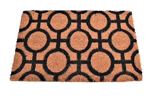 Felpudo de Coco Natural, felpudos Entrada casa, Alfombra Limpia Zapatos, Felpudo Exterior, Alfombra Entrada casa Interior, 60x40 (círculo)