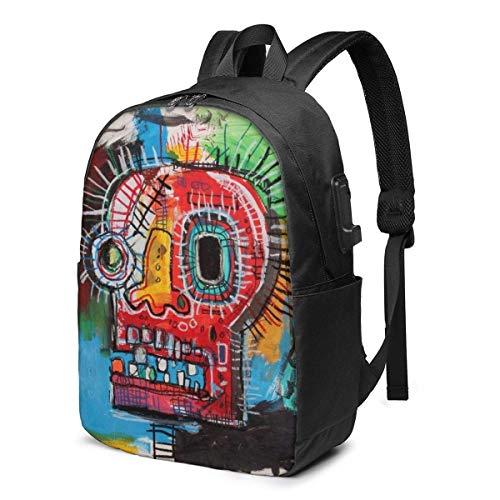 IUBBKI Bolsa para computadora mochila USB Jean Michel Basquiat Business Travel Laptops Backpack,Unisex College Commuter Usb Backpack