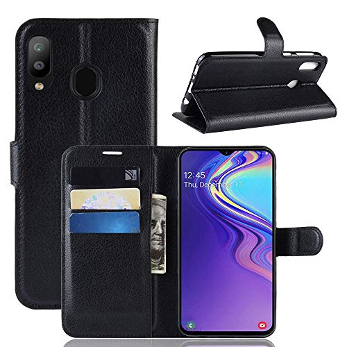 Capa Capinha Carteira 360 Para Samsung Galaxy M20 Tela De 6.3Polegadas Case Couro Flip Wallet - Danet (Preto)