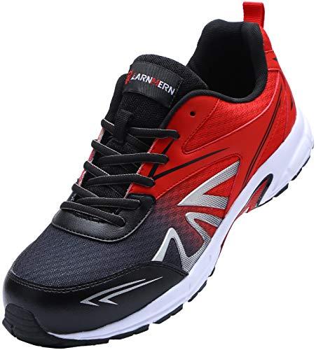 [LARNMERN] 安全靴 メンズ レディース 超軽量 滑り止め 通気性 クッション 作業靴 セフティシューズ メッシュ スニーカー つま先保護 ワークシューズ 防刺 衝撃吸収 耐久性(??、41)