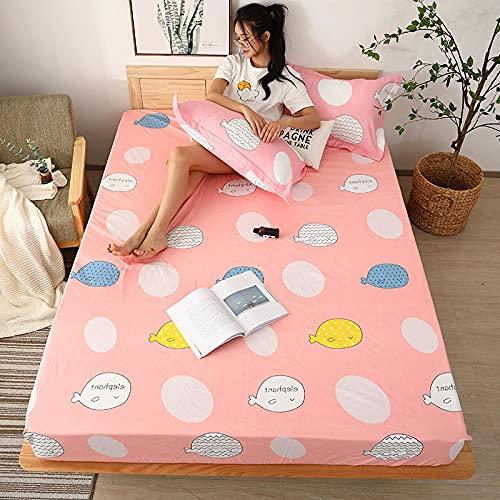 CYYyang colchón Acolchado, antialérgico antiácaros, Sábana Impermeable de un Solo Producto Hotel-7_150cm × 190cm
