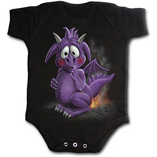 Spiral - DRAGON RELIEF - Body pour bébé - noir - M