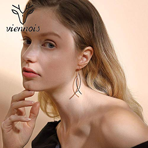 Viennois Mysterious Alpha Earring Girl Simple Fashion Set con Zebra Pisces Eardrop Artificiale