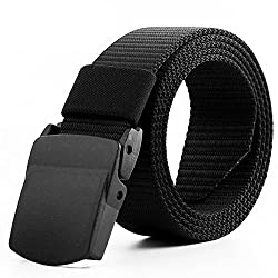 Leoie Army Tactical Waist Belt Automatic Buckle Nylon Canvas Male Men Survival Strap