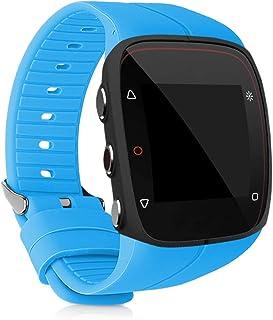kwmobile Pulsera Compatible con Polar M400 / M430 - Brazalete de Silicona en Azul Claro sin Fitness Tracker