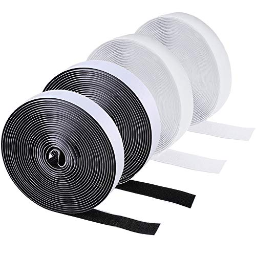 20mm x 50cm STICK ON HOOK// LOOP TAPE Self Adhesive Sticky Back Roll COLOUR WHITE
