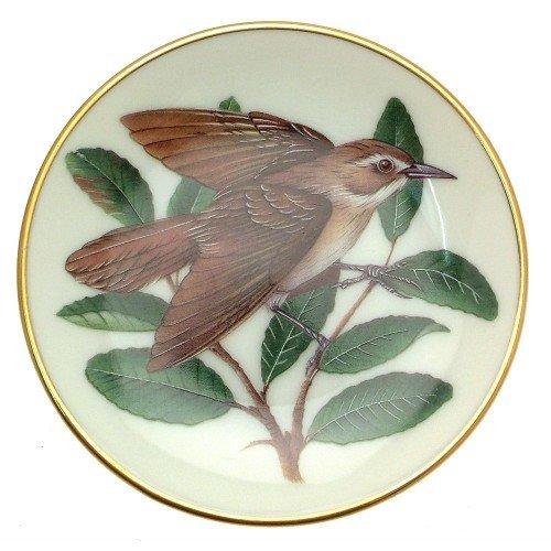 Franklin Porcelain Oiseaux chanteurs du Monde Buse Paruline couronnée Miniature Bird Plaque Cp2448