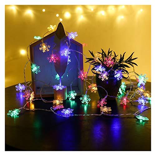 String Lights Snowflake Led String Lights Christmas Festival Tree Decorations Child Bedroom Wedding Garden Garland Decor (Emitting Color : RGB)