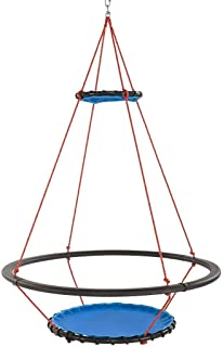 HearthSong Vortex Spinning Ring Swing Fits 4 Kids Large Round 68