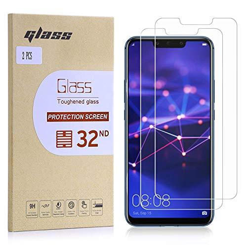 32nd Schermbeschermer, [Bubble gratis installatie], Gehard Glas Scherm Beschermer voor Huawei Mate 20 Lite [2 stuks]
