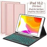 iPad 10.2 2019 7th Gen Keyboard Case,Built-in Pen Slot