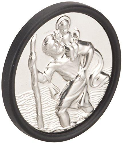 hr-imotion Sankt Christopherus Plakette aus Edelstahl [Made in Germany | selbstklebend | 36mm Durchmesser] - 10210001