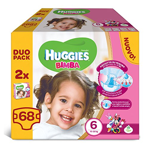Huggies - Bimba - Pañales - Talla 6 (15-30 kg) - 2 x 34 pañales