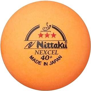 NITTAKU 3 Balls NEXCEL (Made in Japan), 40+ Orange 3 Stars Table Tennis Ball + Free Racket Protection Edge Tape