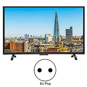 BTIHCEUOT Smart TV HDR de32pulgadas, Pantalla Curva Grande Smart 3000R Curvature TV 4K HDR Network Version 110V(EU Plug)