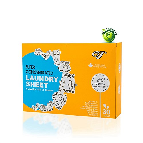 EJ 3-in-1 Laundry Detergent Pacs Sheets for...