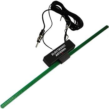 AERZETIX Antenne amplifi/ée int/érieure autoadh/ésive pour Auto autoradio Voiture C16625