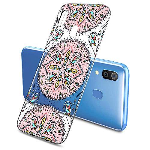 Suhctup Funda Compatible con Samsung Galaxy S7,Carcasa Protectora de Silicona Transparente TPU Bumper con Floral Diseño,Ultra Fina Anti-Choques y Anti-Arañazos Resistente Case,Rosa Blanca