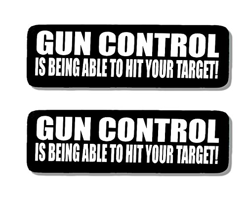 Hot Leathers, 2 x GUN CONTROL IS BEING ABLE - Bikers Motorcycle Helmet, Sticker DECAL (Pair) - 4'