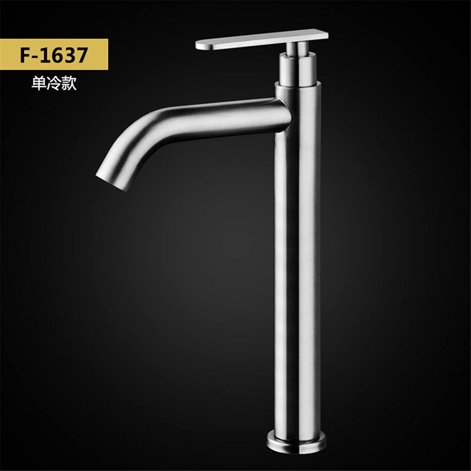 Hlluya Professional Sink Mixer Tap Kitchen Faucet Stainless steel cold water faucet 304 stainless steel hot and cold water faucet basin Faucet