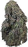 Tarnanzug Ghillie Suit Jackal (Jacke, Hose mit Hosenträgern und Kopfbedeckung) Farbe Woodland...