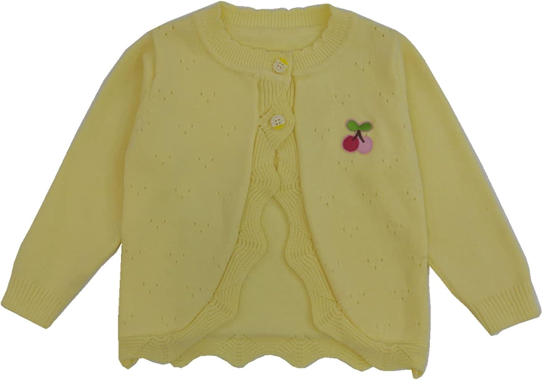 通用 女童开襟毛衣 棉质毛衣 女孩开衫 (黄色, 5)