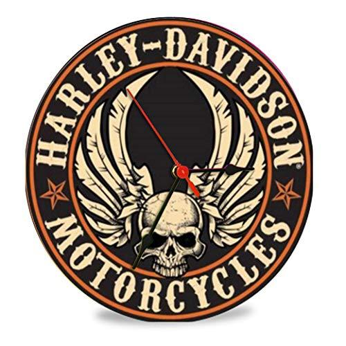The Shizzle Print Co Harley Davidson Five Vintage Retro Orologio in vetro