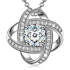 Idea Regalo - Alex Perry Regalo Festa della Mamma collana di zirconi cubici argento 925 regali per lei gioielli donna regali natale regalo di compleanno per le donne ragazze amica mamma lei