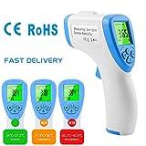 HOPAI Digitales Thermometer Infrarot Baby Erwachsene Stirnthermometer Ohrthermometer Berührungslose...
